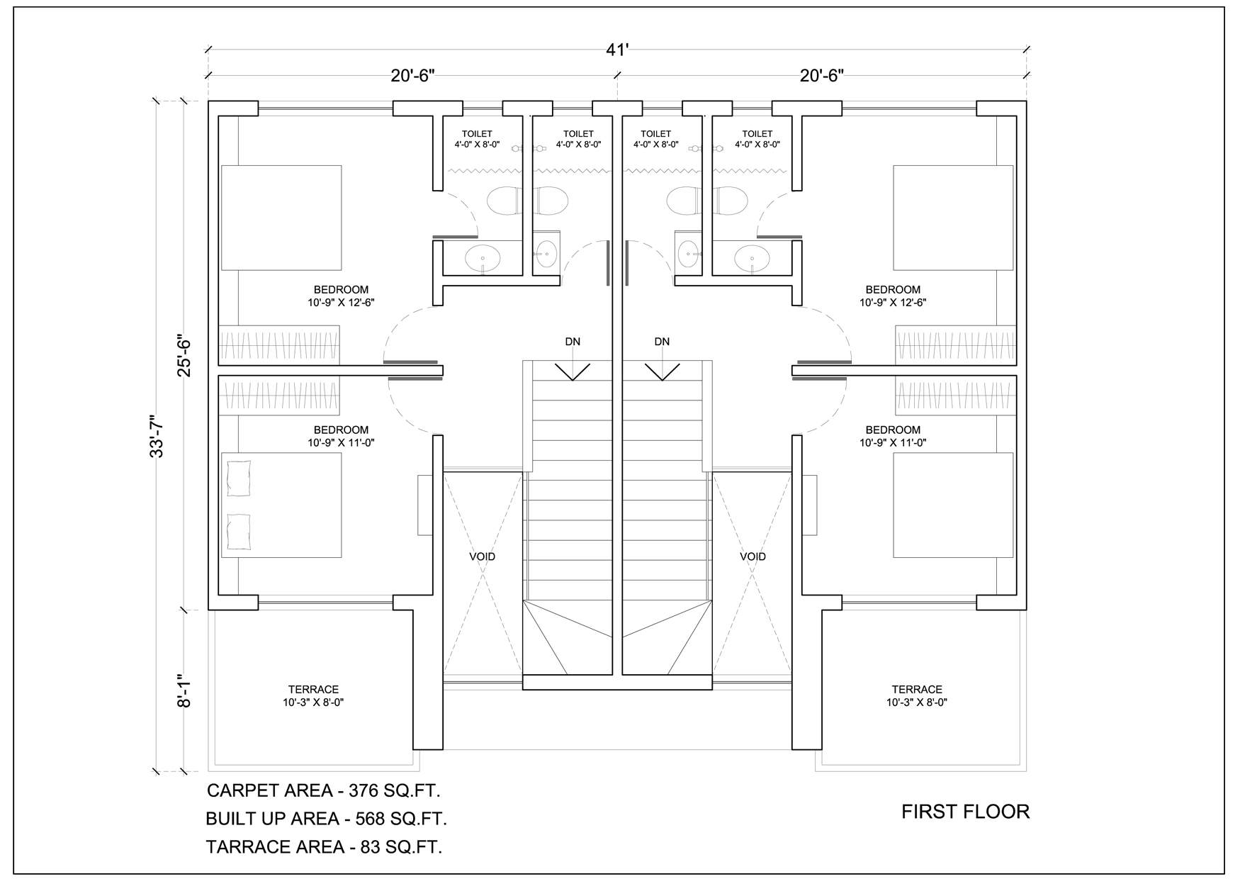 Kalpak developers row house floor plans for Row house layout plan